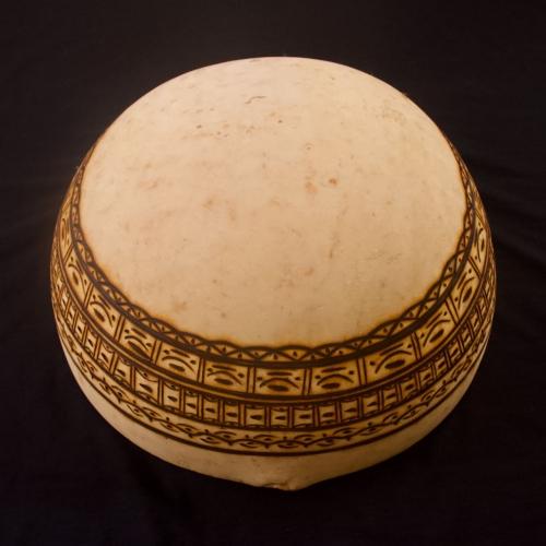 Calebasse tambour pyrogravée