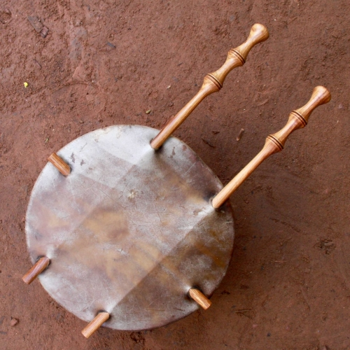 Calabash of kora mounted