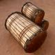 Juego de tres dununs en madera blanco