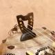 Miniature 8 strings kamele n'goni ebony model