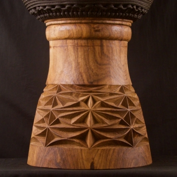 Djembe carving details, BaraGnouma