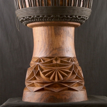 Decorations details of a BaraGnouma djembe