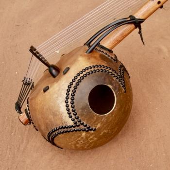 14-string Ebony Kamele n'goni, BaraGnouma, calabash