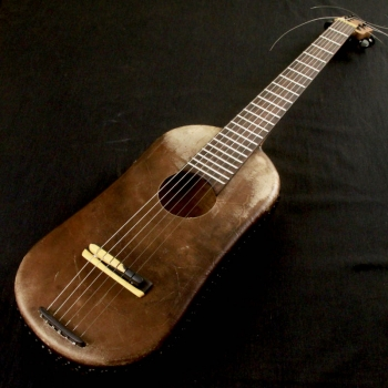 Djeli n'goni with guitar neck, BaraGnouma