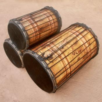 Set de dunun en bois blanc BaraGnouma